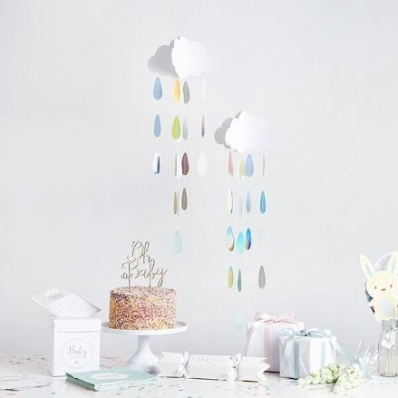 Baby Shower Cloud Decoration - Boy